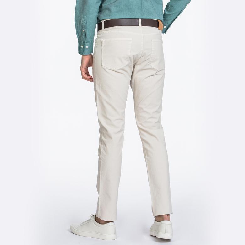 GANT Erkek Slim Canvas Krem Pantolon