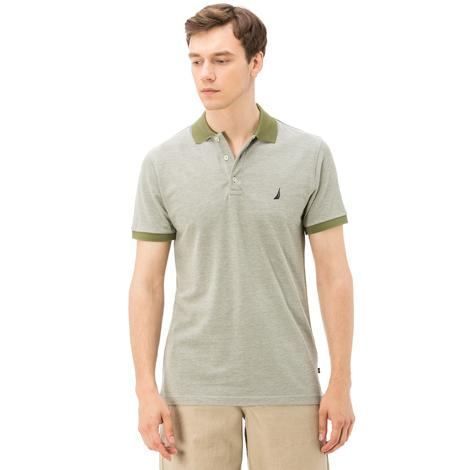 Nautica Erkek Yeşil Kısa Kollu Yaka Altı Slim Fit Polo