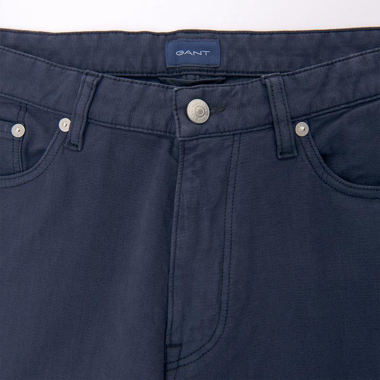 Gant Erkek Lacivert Slim Canvas Pantolon