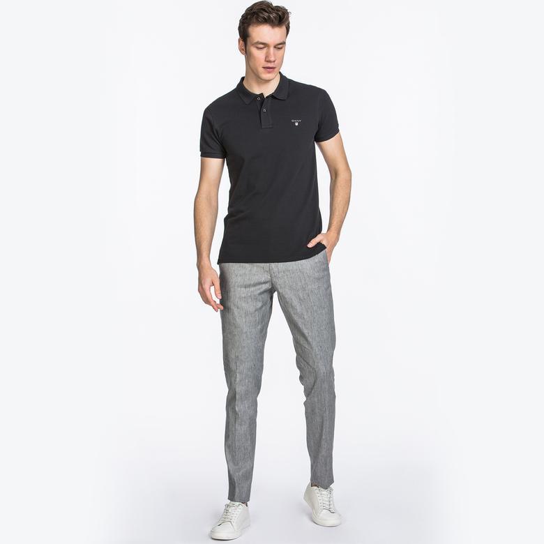 GANT Erkek Gri Melanj Slim Fit Keten Pantolon
