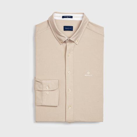 Gant Erkek Bej Slim Fit Gömlek