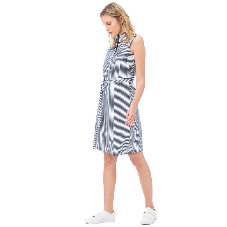 Nautica Kadın Mavi Çizgili Elbise