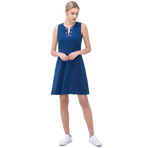 Nautica Kadın Mavi Bisiklet Yaka Elbise