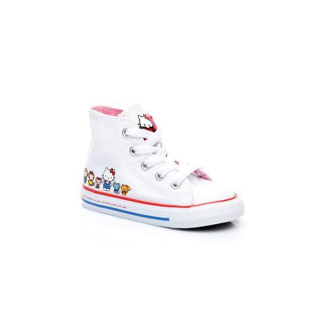 Converse x Hello Kitty Chuck Taylor All Star Mid Çocuk Beyaz Sneaker
