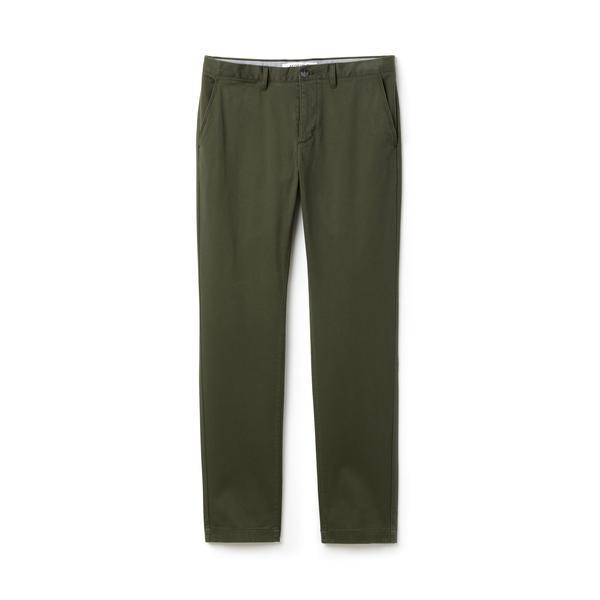 Lacoste Erkek Yeşil Gabardin Pantolon