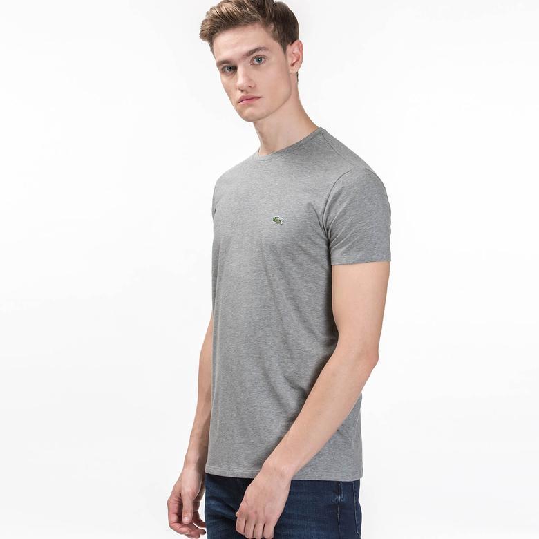 Lacoste Erkek Gri Kısa Kollu T-Shirt