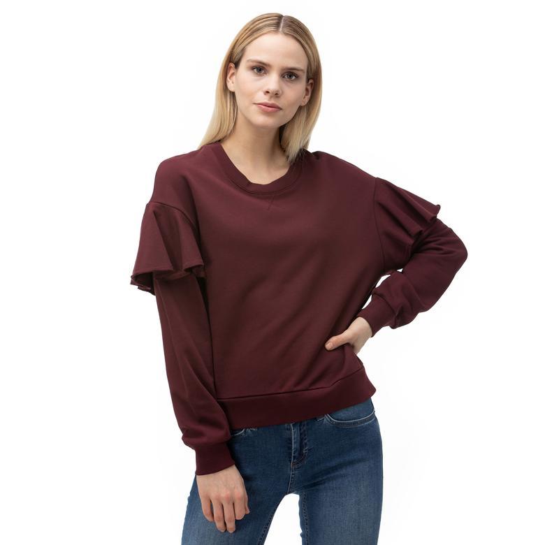Burberry Kadın Bordo Sweatshirt