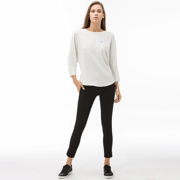 Lacoste Kadın Skinny Fit Siyah Pantolon