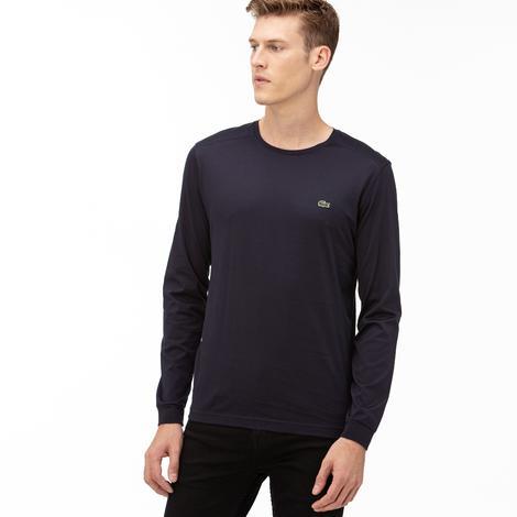 Lacoste Erkek Lacivert Uzun Kollu T-Shirt