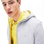Lacoste Motion Erkek Kapüşonlu Gri Çift Taraflı Mont / Sweatshirt