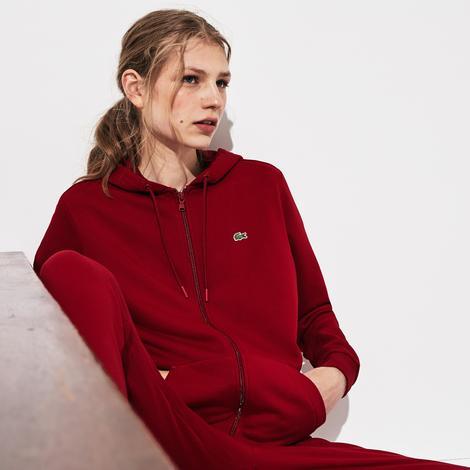 Lacoste Kadın Kapüşonlu Bordo Sweatshirt