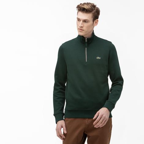 Lacoste Erkek Dik Yaka Yeşil Sweatshirt