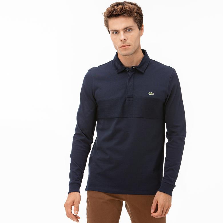 Lacoste Erkek Uzun Kollu Gömlek Yaka Lacivert Polo