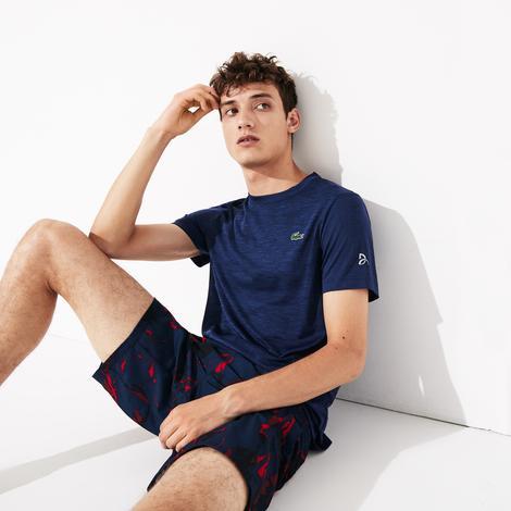 Lacoste Novak Djokovic Erkek Lacivert T-Shirt