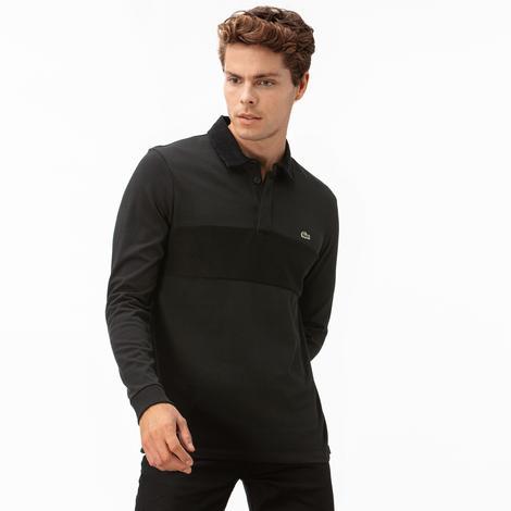 Lacoste Erkek Uzun Kollu Gömlek Yaka Siyah Polo