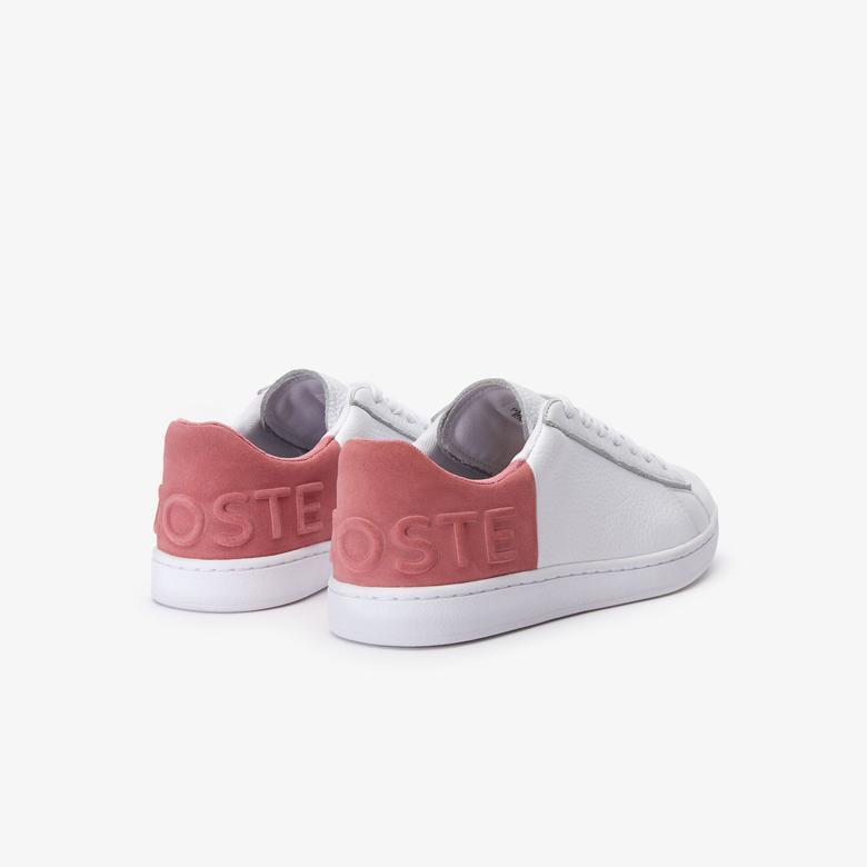 Lacoste Carnaby Evo 419 2 Sfa Kadın Beyaz - Pembe Sneaker