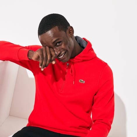 Lacoste Erkek Kapüşonlu Kırmızı Sweatshirt