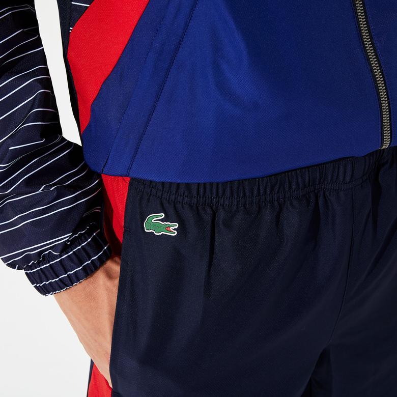 Lacoste Sport Erkek Dik Yaka Lacivert - Kırmızı Eşofman Takımı