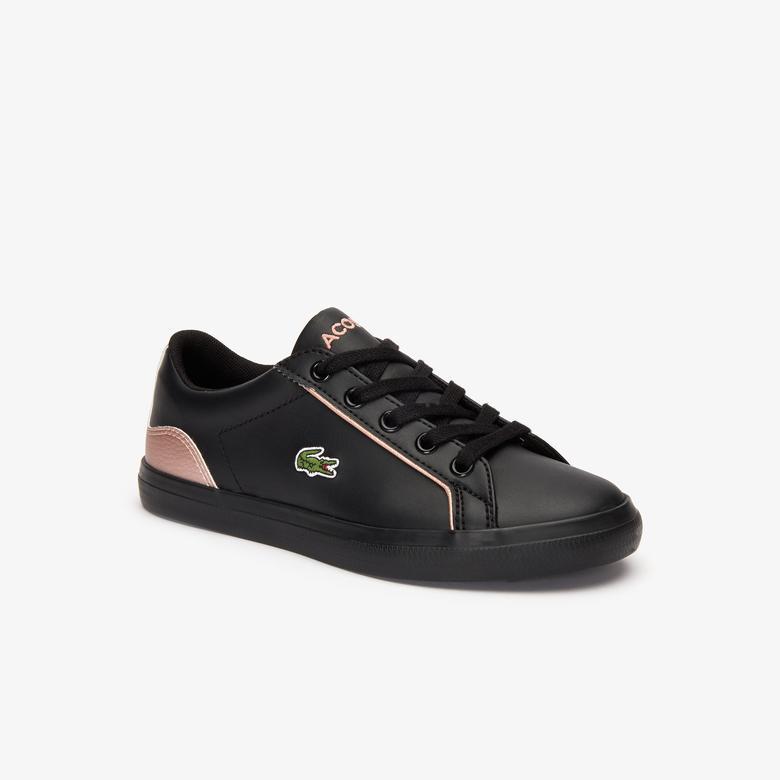 Lacoste Lerond Çocuk Siyah - Pembe Spor Ayakkabı