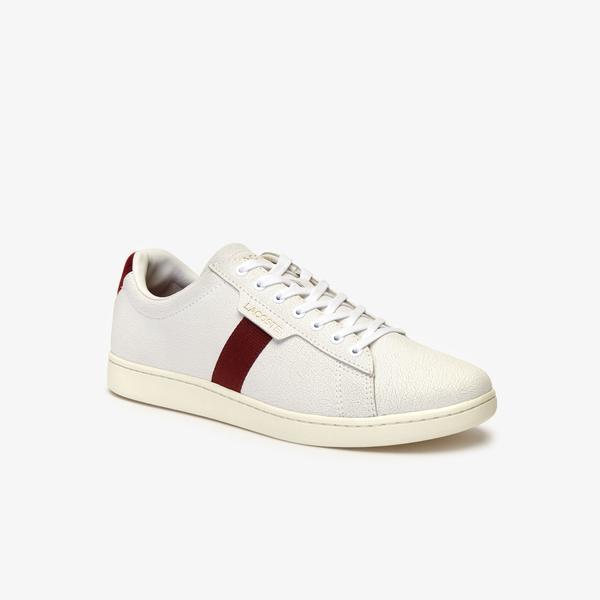 Lacoste Carnaby Evo Erkek Beyaz - Kırmızı Spor Ayakkabı