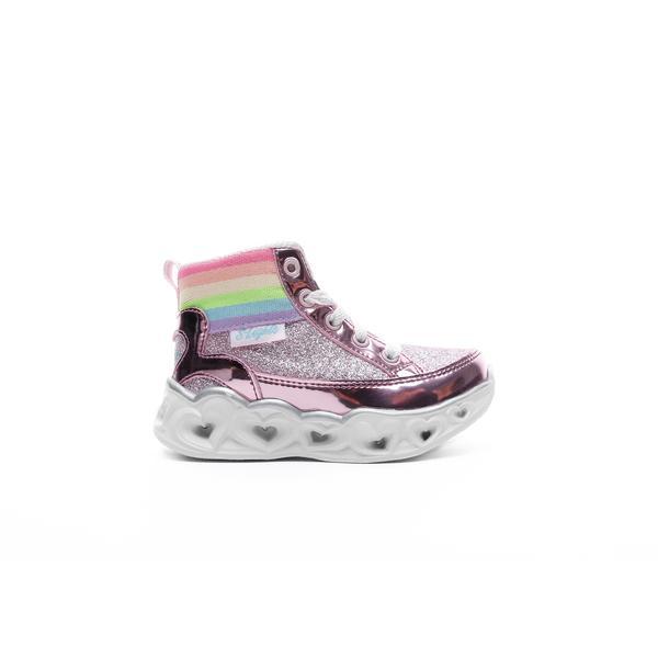 Skechers Heart Lights Işıklı Metalik Pembe Bebek Spor Ayakkabı
