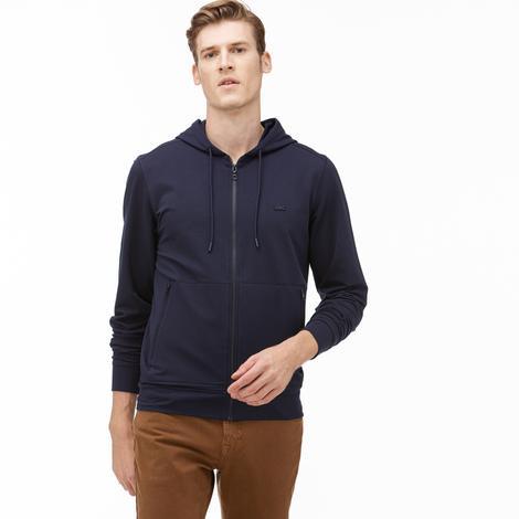 Lacoste Erkek Kapüşonlu Fermuarlı Lacivert Sweatshirt