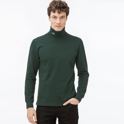 Lacoste Erkek Uzun Kollu Boğazlı Yeşil T-Shirt