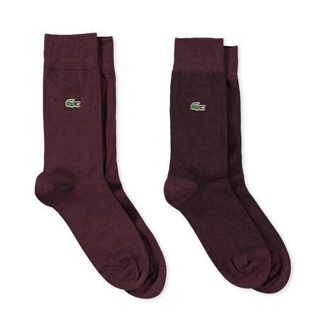 Lacoste Erkek 2'li Bordo Çorap