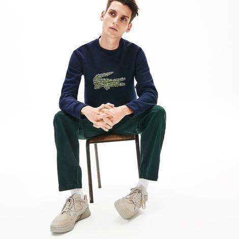 Lacoste Croco Magic Erkek Lacivert Sweatshirt