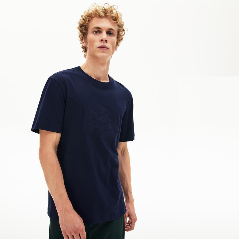 Lacoste Erkek Regular Fit Timsah Baskılı Lacivert T-Shirt