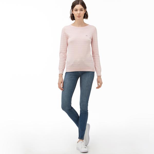 Lacoste Kadın Slim Fit Mavi Jean