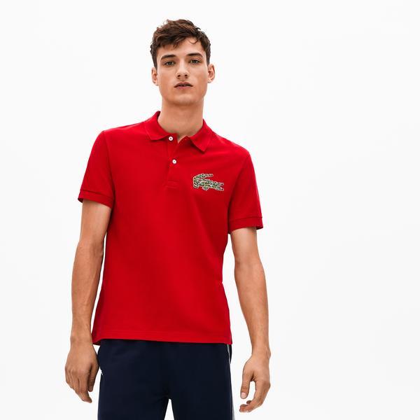 Lacoste Croco Magic Erkek Regular Fit Kırmızı Kısa Kollu Polo