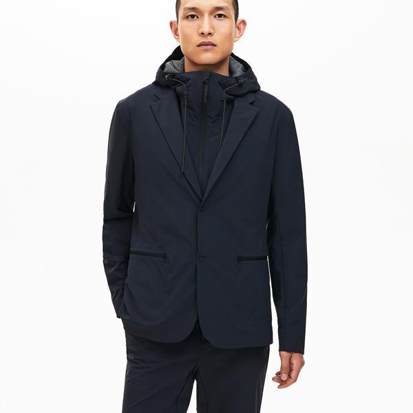 Lacoste Motion Erkek Lacivert Kapüşonlu 3 Farklı Kullanımlı Yağmurluk/Ceket