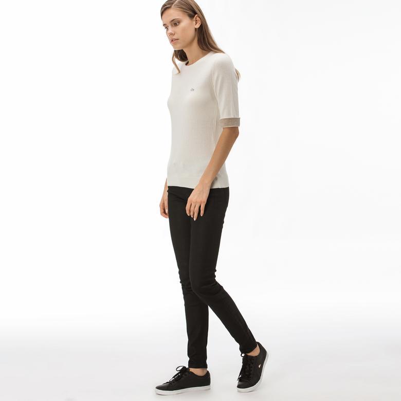 Lacoste Kadın Slim Fit Siyah Jean