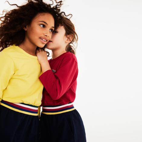 Lacoste Çocuk Blok Desenli Renkli Elbise