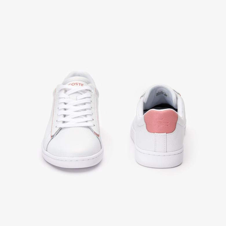 Lacoste Carnaby Evo Kadın Beyaz - Pembe Günlük Ayakkabı