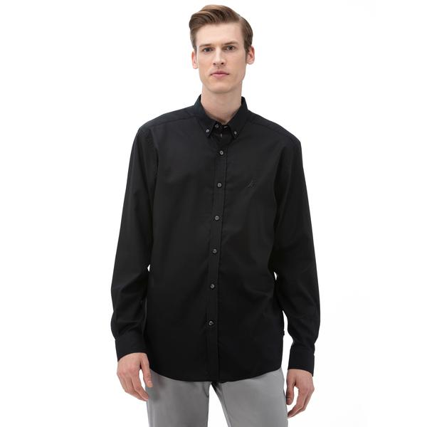 Nautica Erkek Siyah Klasik Fit Gömlek