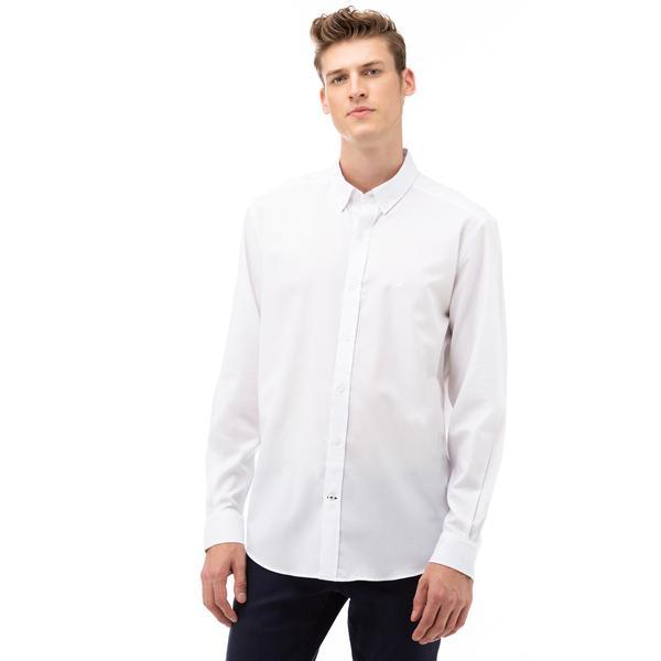 Nautica Erkek Beyaz Klasik Fit Gömlek