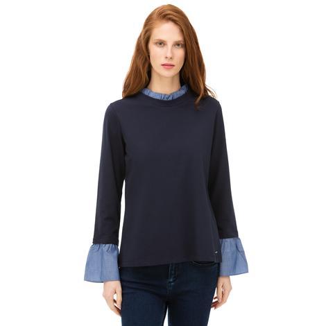 Nautica Kadın Lacivert Standart Fit Sweatshirt