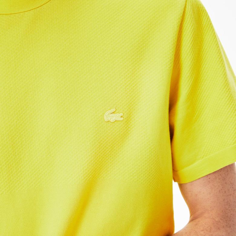 Lacoste Erkek Slim Fit Sarı T-Shirt