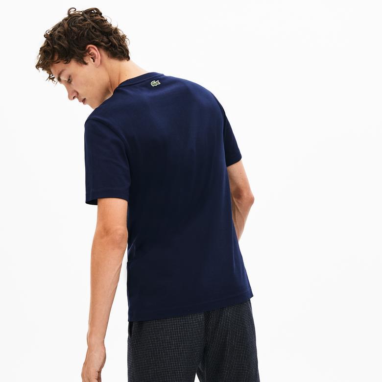 Lacoste Erkek Regular Fit Baskılı Lacivert T-Shirt