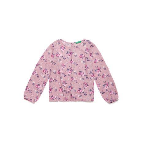 Benetton Çocuk Çiçek Desenli Bluz