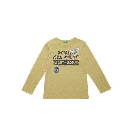 Benetton Çocuk Patch Detaylı Grafik T-Shirt