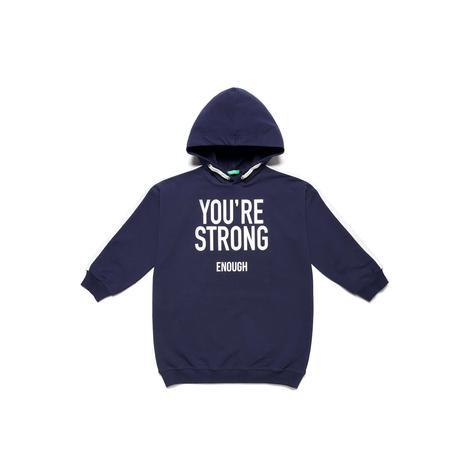 Benetton Çocuk  Sloganlı Sweat Elbise
