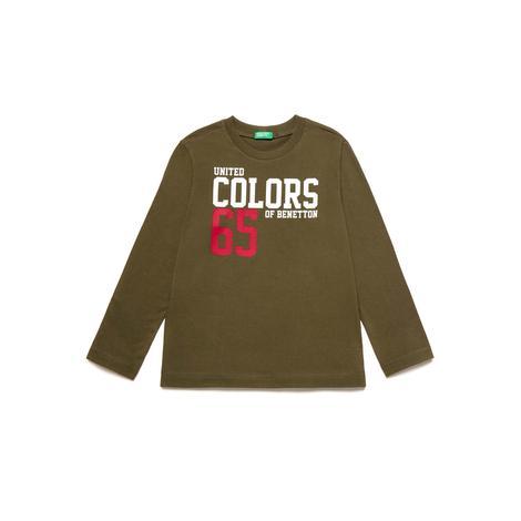 Benetton Çocuk Yazılı T-Shirt