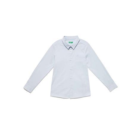 Benetton Çocuk Logolu Poplin Gömlek