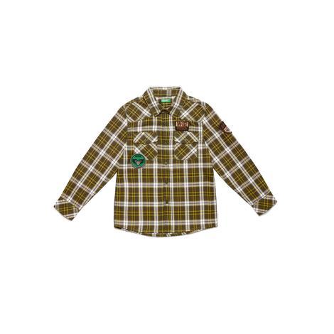 Benetton Çocuk Patch Detaylı Ekose Gömlek