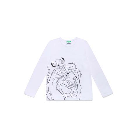 Benetton Çocuk Aslan Kral Grafikli T-Shirt