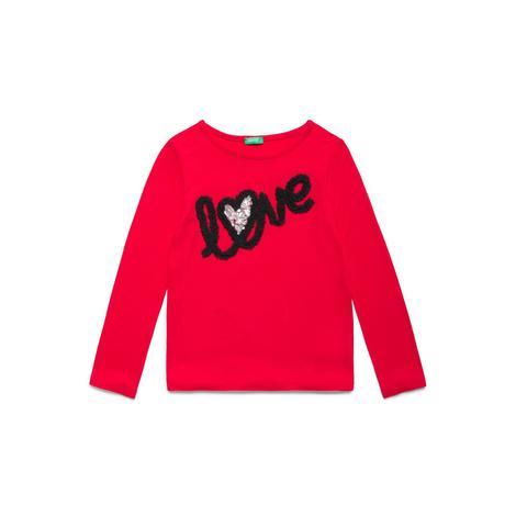 Benetton Çocuk Love Baskılı T-Shirt