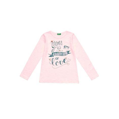 Benetton Çocuk Grafik Baskılı Desenli T-Shirt